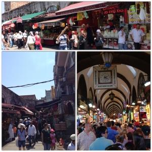 O mercado de especiarias de Istambul, um dos bazares mais conhecidos do mundo criado em 1660, próximo a Nova Mesquita.