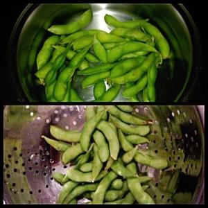 Pra fazer é muito fácil, 3 minutos em água fervendo no fogão ou microondas. Eu fiz na panela mesmo... Só escorrer a água e servir com um fio de azeite de oliva e for de sal, pode ser sal comum, claro.